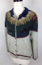 Buy Woolrich Sweater S Womens Gray Wool Cardigan