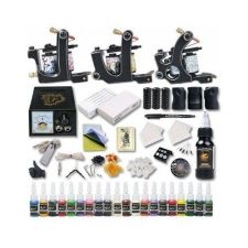 Buy TATTOO KIT NEW PRO PROFESSIONAL COMPLETE PLUS W/ COLORS SET