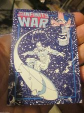 Buy Thanos Silver Surfer card Infinity War with checklist High Grade 1992