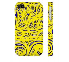 Buy Tremble Yellow Blue Flowers Floral Botanical Iphone 4/4S Phone Case