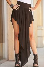 Buy Women Fashion Super Sexy Solid Black Asymmetrical S,M,L