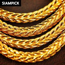 "Buy 24"" Thai 22k 24k Baht Yellow Gold Plated Franco Chain Necklace Jewelry GP N046"