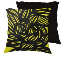 Buy Kazunas 18x18 Yellow Black Pillow Flowers Floral Botanical Cover Cushion Case Throw P