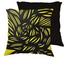 Buy Kazunas 18x18 Yellow Black Pillow Flowers Floral Botanical Cover Cushion Case Throw P