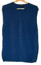 Buy EUC men's sz.XLT, Eddie Bauer, blue, ribbed, v-neck, sweater vest