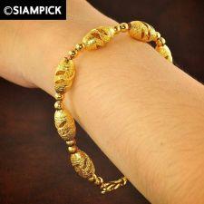 Buy Thai 22k 24k Baht Yellow Gold Plated GP Bead Bracelet Chain Bangle Jewelry B022