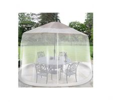 Buy Umbrella Table Screen White 9 Foot Mosquito Patio Insect cover Tent Garden