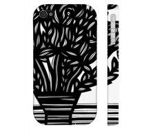 Buy Goeser Black White Flowers Floral Botanical Iphone 4/4S Phone Case