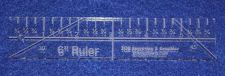 """Buy 6"""" Ruler. Acrylic ~1/4"""" thick. Quilting/Sewing"""