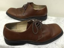 Buy UNLISTED KENNETH COLE MEN'S BROWN LEATHER DRESS SHOES SIZE 11.