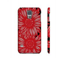 Buy Handcock Yellow Red Black Flowers Samsung Galaxy S5 Phone Case