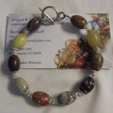 Buy stone natural handmade bracelet, can be made in other sizes