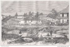 Buy COCHINCHINA (VIETNAM) - ASIAN DISTRICT IN SAIGON - engraving from 1875