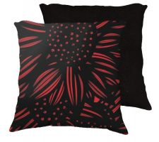 Buy Seit 18x18 Red Black Pillow Flowers Floral Botanical Cover Cushion Case Throw Pillow