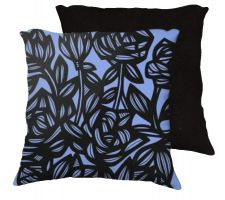 Buy Leston 18x18 Blue Black Pillow Flowers Floral Botanical Cover Cushion Case Throw Pill