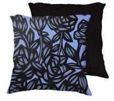 Buy Leston 18x18 Blue Black Pillow Flowers Floral Botanical Cover Cushion Case Throw Pill