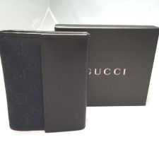 Buy New Authentic Gucci Wallet Monogram Canvas Brown Calf Leather Trim Coin Billfold