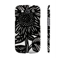 Buy Staufenberger Black White Flowers Samsung Galaxy S3 Phone Case