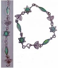 Buy Messianic Bracelet Silver & Opals Imported From Israel