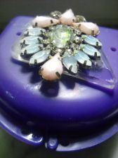Buy Bling Denture Case Pink Gem Jewelry Pretty Woman Partial Bridge Retainer Purple