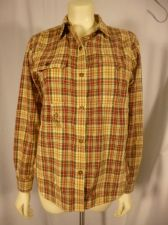 Buy Womens Plaid RALPH LAUREN Polo Cotton Snap Pocket Western Casual Size PL