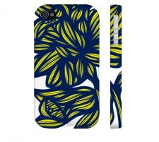 Buy Campione Yellow Blue Iphone 4/4S Apple Phone Case Flowers Botanical