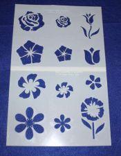 Buy 2 Piece Set -Mylar 14 Mil Flower Stencils Painting/Crafts/Stencil/Template