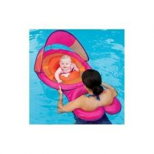 Buy Baby & Mommy Spring Swimming Float new With Canopy Pink
