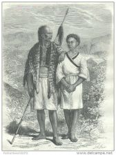 Buy CHINA (FORMOSA) - MONTAGNARDS (MOUNTAIN PEOPLE) FROM TAIWAN -engraving from 1875