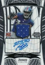 Buy NFL 2009 Bowman Sterling Football PATCH/AUTO/RC Ramses Barden MNT