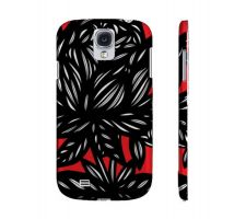 Buy Norkin Red White Black Flowers Samsung Galaxy S4 Phone Case