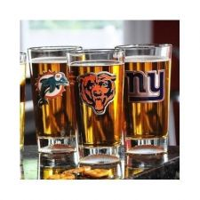Buy NFL Personalized Logo Drinking Glass . Great for Dads.