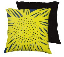 Buy Jozsa 18x18 Yellow Blue Pillow Flowers Floral Botanical Cover Cushion Case Throw Pill