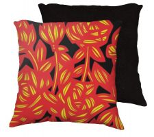 Buy Glascoe 18x18 Yellow Red Black Pillow Flowers Floral Botanical Cover Cushion Case Thr