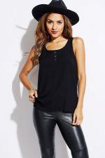 Buy Trendy Women Casual Black Sleeveless Tunic Shirt S M L