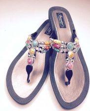 Buy Grandco Aruba Jeweled Sandals Flip Flop Slide Women Footwear Pools Beach BLK 10