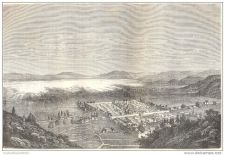 Buy CHINA - TONG-HAY LAKE & TOWN - engraving from 1873