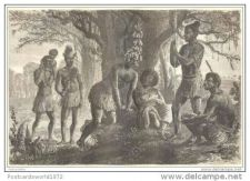 Buy NEW GUINEA - LOCAL PEOPLE - engraving from 1873