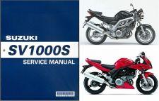 Buy 03-07 Suzuki SV1000 / SV1000S Service Repair Shop Manual CD -- SV 1000 S 1000S