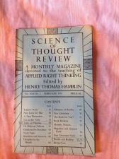 Buy SCIENCE OF THOUGHT REVIEW Applied Right Thinking Henry T. Hamblin Feb 1951