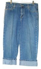 Buy EUC, women's, Sz. 8, Levi's 515 Capri, blue denim jeans