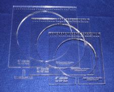 """Buy 3 Piece Inside Circle Set w/Rulers ~3/8"""" Thick - Long Arm- For 1/2"""" Foot"""