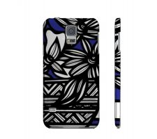 Buy Drakulic Blue Whit Flowers Samsung Galaxy S5 Phone Case