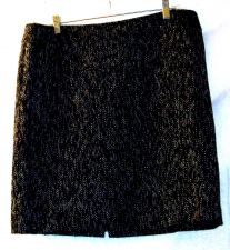 Buy NWT, sz.16P, TAHARI ASL Liz Black Tweed Lined Knee-Length Straight Skirt