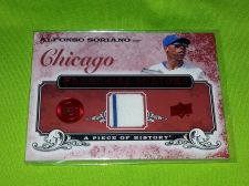 Buy MLB ALFONSO SORIANO CUBS 2008 UPPER DECK GAME WORN PINSTRIPE JERSEY RELIC MNT