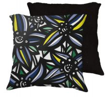 Buy 22x22 Caroway Yellow Blue Black Pillow Flowers Floral Botanical Cover Cushion Case Th