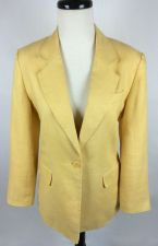 Buy Talbots Blazer P 4 Womens Yellow Irish Linen Jacket