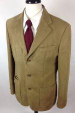 Buy Zara Blazer Mens 40 R Brown Sueded Sport Coat Jacket