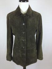 Buy Valerie Stevens Jacket Womens S Green Leather Long Sleeve