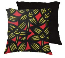 Buy Fried 18x18 Yellow Red Black Pillow Flowers Floral Botanical Cover Cushion Case Throw